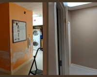 before-after-painting-of-school-hallway-brantford