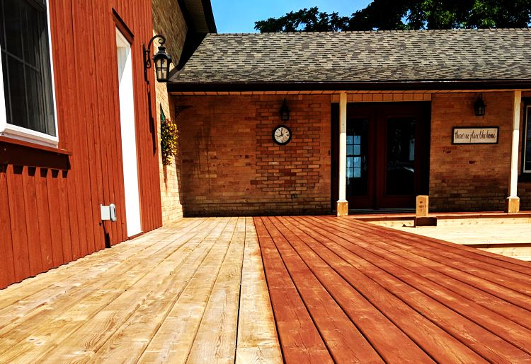 Before after deck painting example