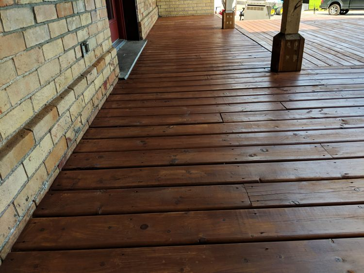 Stained deck example